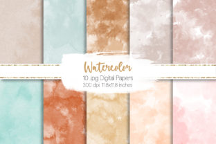 Print on Demand: Light Watercolor Digital Paper Graphic Backgrounds By loyaarts