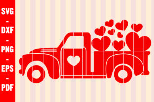Print on Demand: Lots of Love Valentine Day Vintage Truck Graphic Crafts By creativeshohor