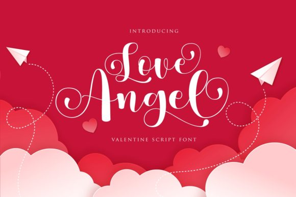 Print on Demand: Love Angel Script & Handwritten Font By Septa Script