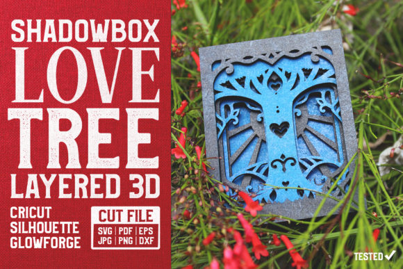 Love Tree 3D Layered Cut File Graphic Crafts By pixaroma