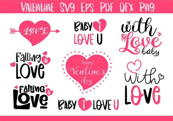 Love Valentine SVG Graphic Crafts By BB Digital Arts