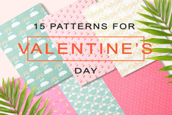 Print on Demand: Lovely Valentine's Day Pattern Graphic Patterns By ThePaperOwl