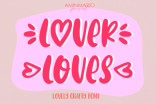 Print on Demand: Lover Loves Script & Handwritten Font By aminmario
