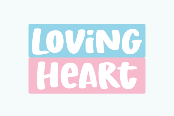 Print on Demand: Loving Heart Display Schriftarten von Epiclinez