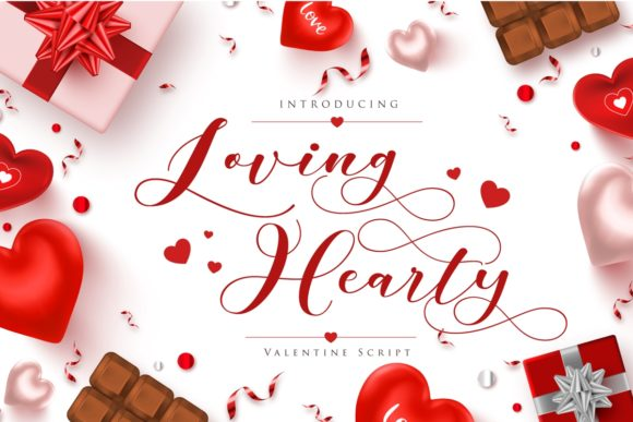 Print on Demand: Loving Hearty Script & Handwritten Font By Septa Script