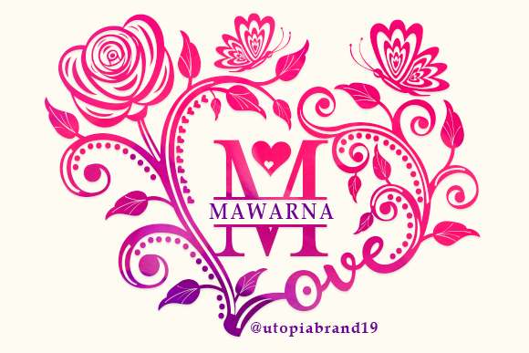 Print on Demand: Mawarna Monogram Decorative Font By utopiabrand19