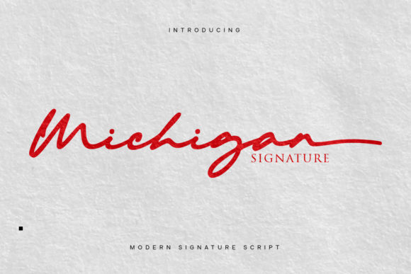 Print on Demand: Michigan Script & Handwritten Font By Cititype