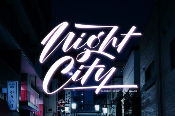 Print on Demand: Night City Script & Handwritten Font By Septa Script