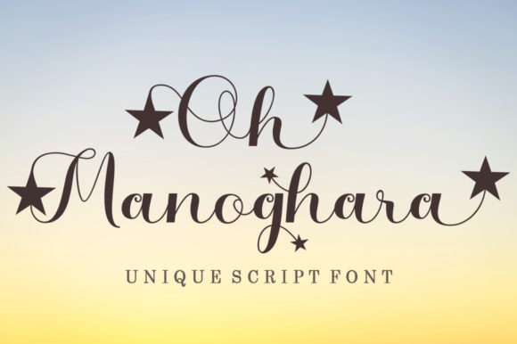 Print on Demand: Oh Manoghara Script & Handwritten Font By bosstypestudio