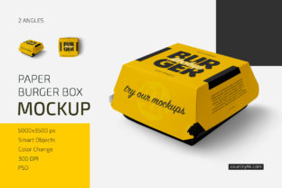 Paper Burger Box Mockup Set Graphic Product Mockups By country4k