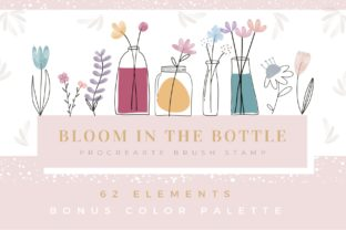 Print on Demand: Procreate Brush Stamp 62 Bloom in Bottle Graphic Brushes By Pui Pui