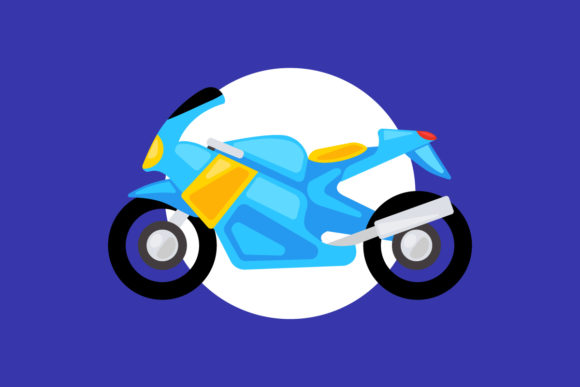 Racing Motorcycle Vector Illustration Graphic Illustrations By depotvisual