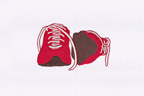 Red Shoes Design Clothing Embroidery Design By DigitEMB