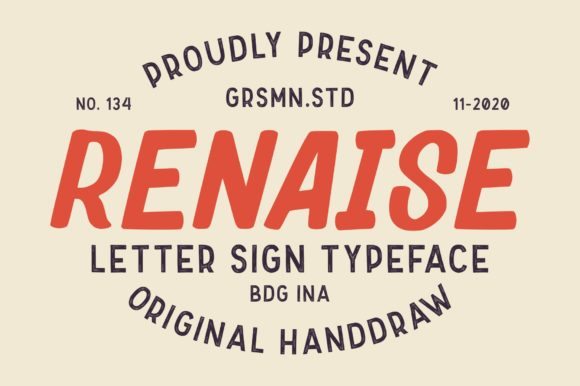 Print on Demand: Renaise Display Font By Garisman Studio