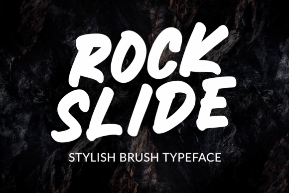Print on Demand: Rockslide Display Font By Mozarella
