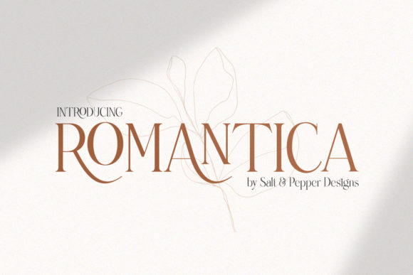 Print on Demand: Romantica Serif Font By Salt & Pepper Designs
