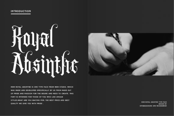 Print on Demand: Royal Absinthe Blackletter Font By MHM STUDIO