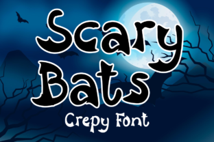 Print on Demand: Scary Bats Display Font By Letter art studio
