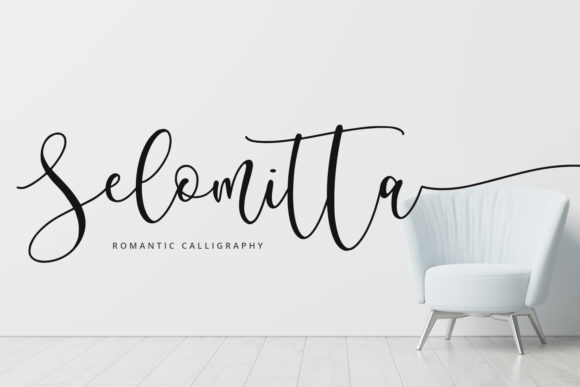 Print on Demand: Selomitta Script & Handwritten Font By Abodaniel