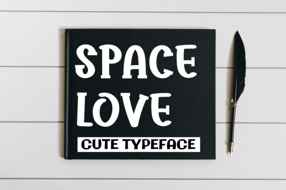 Print on Demand: Space Love Display Font By Letter art studio