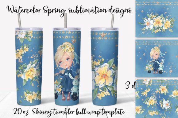 Print on Demand: Spring Sublimation Design. Skinny Tumble Graphic Crafts By nicjulia