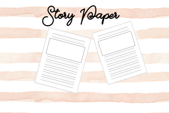 Print on Demand: Story Paper for Kids - KDP Graphic Coloring Pages & Books Kids By TopStorePro