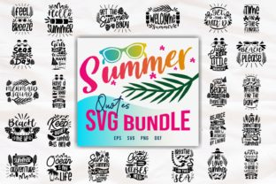 Print on Demand: Summer Quotes SVG Bundle Graphic Print Templates By Universtock
