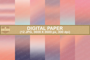 Print on Demand: Sunset Gradient Digital Papers Graphic Backgrounds By SineDigitalDesign