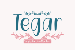Print on Demand: Tegar Script & Handwritten Font By Lian-7NTypes