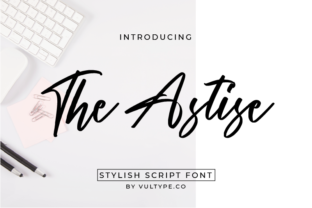Print on Demand: The Astise Script & Handwritten Font By hugefonts