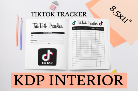 Print on Demand: TikTok Tracker | KDP Interior Graphic KDP Interiors By KDP Mastermind