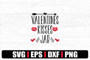 Print on Demand: VALENTINES KISSES JAR Graphic Print Templates By svg.in.design