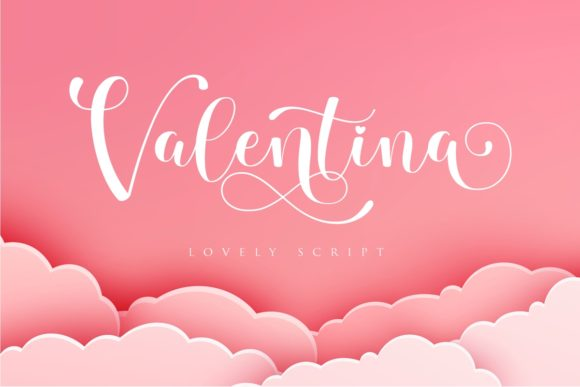 Print on Demand: Valentina Script & Handwritten Font By Septa Script