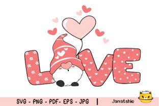 Valentine Gnome Svg, Love Svg Valentines Graphic Crafts By Janatshie