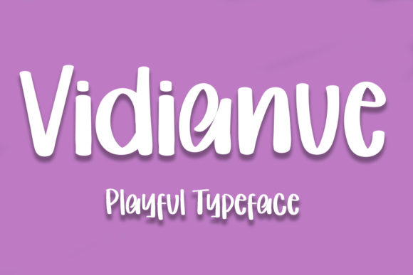 Print on Demand: Vidianue Display Font By Inermedia STUDIO