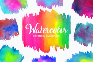 Print on Demand: Watercolor Sublimation Backgrounds Grafik Hintegründe von DTCreativeLab