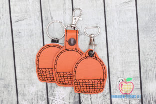 Wooden Vegetable Basket ITH Key Fob Kitchen & Cooking Embroidery Design By embroiderydesigns101