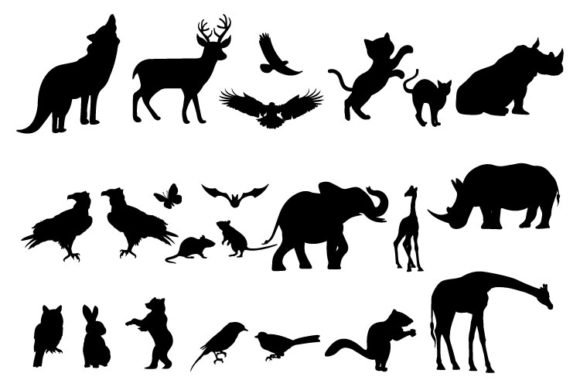 Print on Demand: Animal Silhouette Collection Graphic Illustrations By curutdesign