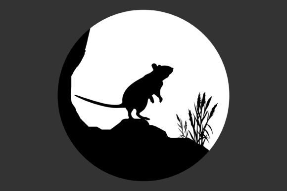 Print on Demand: Mouse Silhouette Graphic Illustrations By curutdesign