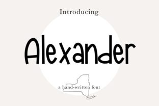 Print on Demand: Alexander Script & Handwritten Font By beccasbrushlettering