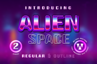Print on Demand: Alien Space Display Font By WNGSTD