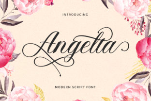 Print on Demand: Angelta Script & Handwritten Font By LetterFreshStudio