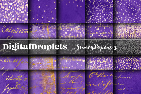 BUNDLE | Snowy Papers Collection 3 Graphic Backgrounds By digitaldroplets