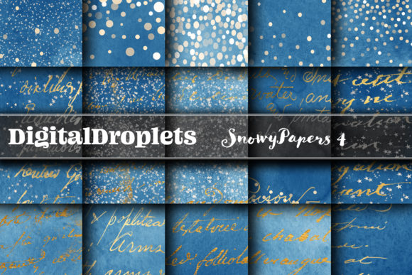 BUNDLE | Snowy Papers Collection 4 Graphic Backgrounds By digitaldroplets