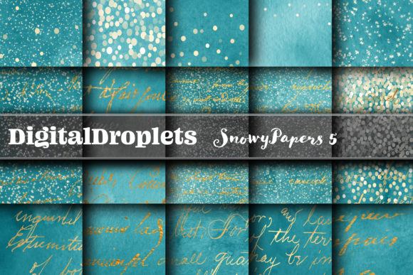 BUNDLE | Snowy Papers Collection 5 Graphic Backgrounds By digitaldroplets