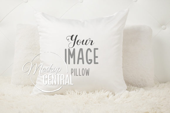 Bedroom Square Mockup Pillow JPG Graphic Product Mockups By Mockup Central