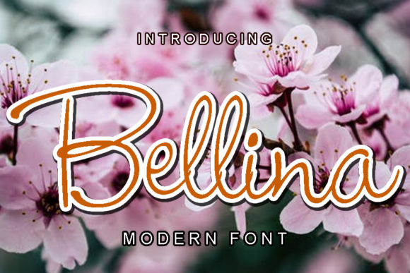 Print on Demand: Bellina Script & Handwritten Font By ABBAsalam