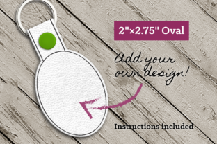 Blank Oval ITH Key Fob Accessories Embroidery Design By DesignedByGeeks