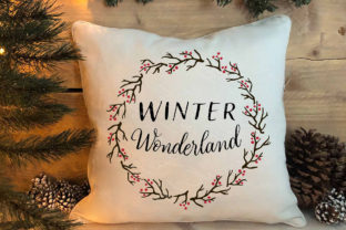 Winter Wonderland Berry Twig Wreath Graphic Crafts By Designs of Whimsy