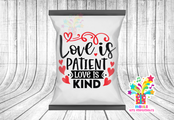 CHIP BAG VALENTINE'S DAY QUOTE Graphic Print Templates By marilakits